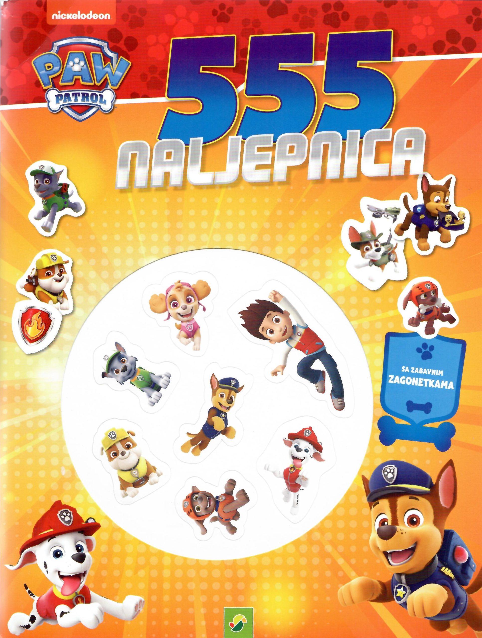 555 naljepnica za djecu paw patrol